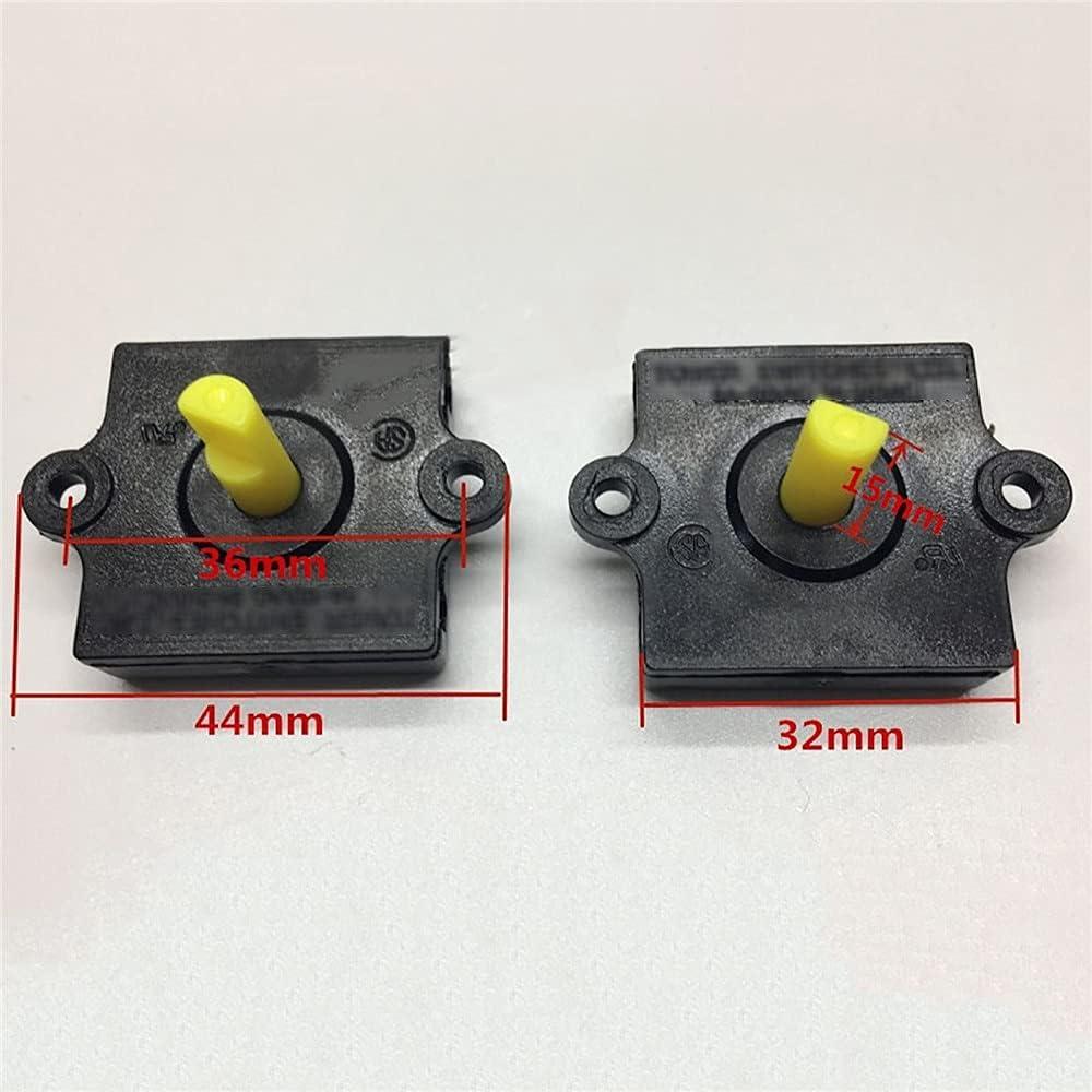 QYANGSHAN 2 unids/Set Interruptor Giratorio Cuadrado Universal de Tres velocidades, Interruptor de Cambio de Repuesto para Ventilador eléctrico, licuadora, Piezas de reparación de exprimidor