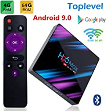 Android 9.0 H96 Max TV Box 4GB RAM/64GB, Penta-Core Mali-450 Up to 750Mhz+, RK3318 Quad-Core 64bit Cortex-A53, H.265 Decoding 2.4GHz/5GHz WiFi Smart TV Box