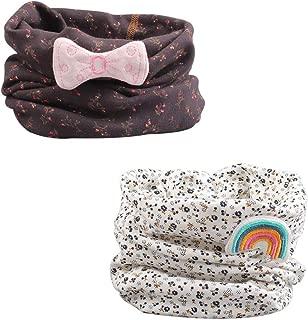 Cartoon Print Baby Scarf Cotton Soft Kids Round Scarves Warm Autumn Winter Neck Warmer