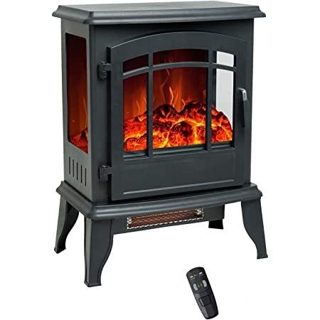 Flame Shade 58 Cm Electric Fireplace Wood Stove Portable Freestanding Indoor Space Heater With Remote Control Timer 1800 900w Amazon Co Uk Diy Tools