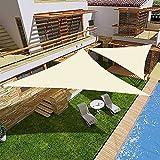 YJKDM Vela de Sombra, toldo Impermeable con protección Solar Triangular, recreación al Aire Libre en jardín Beige (2x2x2m, 3x3x3m, 3.6x3.6x3.6m, 3x3x4.3m, 4x4x4m)