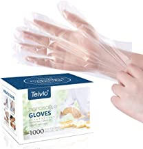 Disposable Gloves, 1000 Pcs Plastic Gloves for Kitchen Cooking Cleaning Safety Food Handling, Powder and Latex Free by Teivio