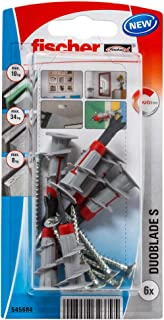fischer DUOBLADE S Self-Drilling Drywall Anchor with Screws (6 Pack)