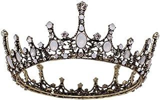 ysister Corona da Donna, Corona da Sposa Vintage diadema Fascia per Capelli Principessa barocca per Donna Ballo di fine An...
