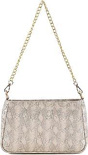 Sakwoods Women Printed Pu Silver Sling Bag
