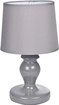 HOMEA 6LCE080GR LAMPE, CERAMIQUE, 40 W, GRIS, L.18l.18H.29.5CM