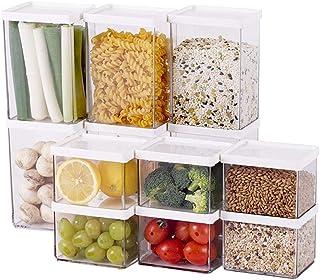 WWJHH-Food storage box BoîTe De Rangement De Cuisine RéCipient De Nourriture -Coffret De Rangement Carré - Taille Multiple...