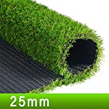 Kunstrasen-Teppich Premium Synthetic Kunstrasen, 25mm High Density Fake Faux Grass Turf, Kunstrasenteppich Indoor, Outdoor Realistic Green Dekorative Synthetic kunstrasen deko (Size : 2mx0.5m)