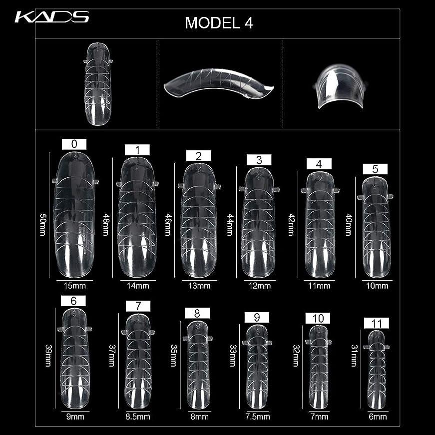 好奇心盛パンサー作りますKADS ネイルチップ 12サイズ/10PCS デュアルネイルフォーム UVジェルアクリルネイルアート 無地 透明 (サイズ4)