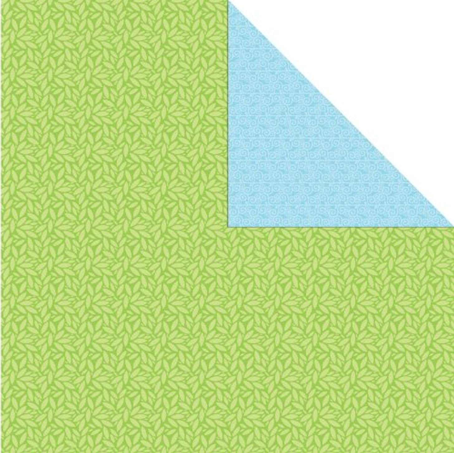 Prima 881290 Signs of Spring Double Sided Cardstock Paper, New Leaf, 25-Pack