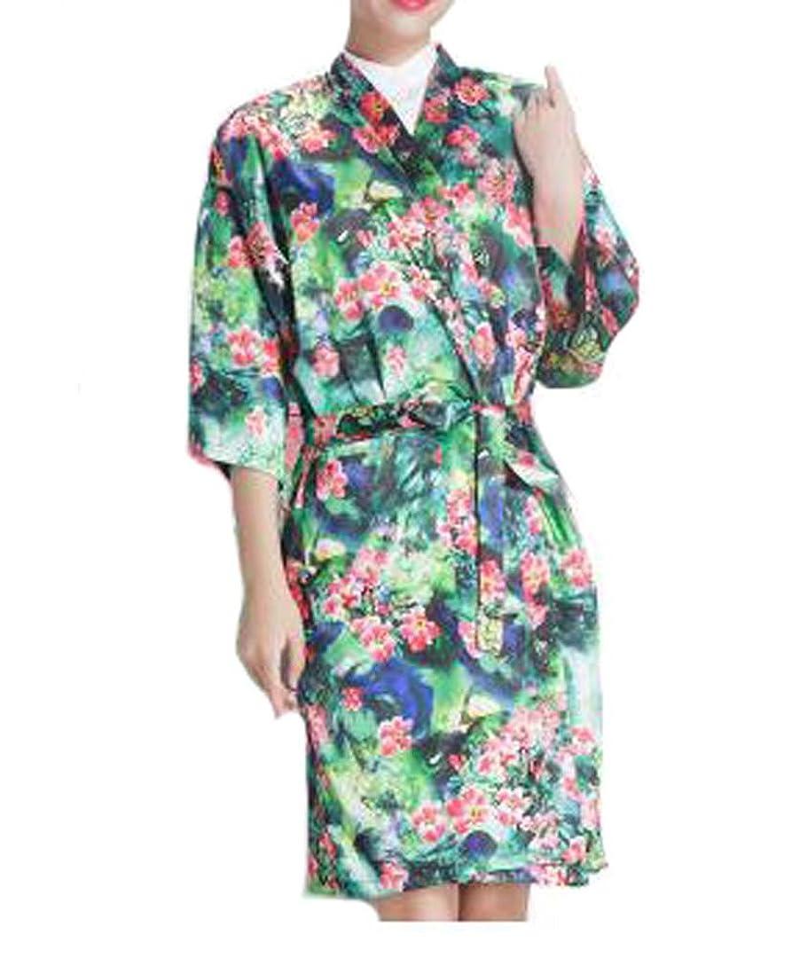 スパイ従順スリンクサロンクライアントのドレス、クライアント、チェリーグリーンの上品なローブの美容院