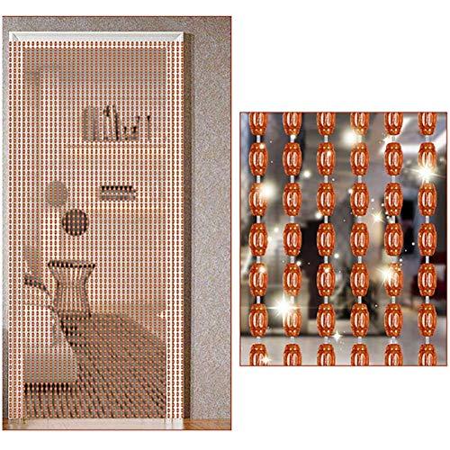 ZXL parelgordijn voor deur decoratie roomdivider koord hanger woonkamer slaapkamer (kleur: helder, grootte: 120 draden/120 x 220 cm)