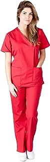 Women's Mock Wrap/Flare Pant Medical Scrubs Set