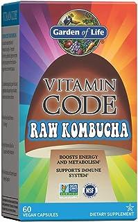 Kombucha Pills by Garden of Life Vitamin Code Raw Kombucha Vegan Supplement for Energy, Metabolism, Immune System, Digesti...