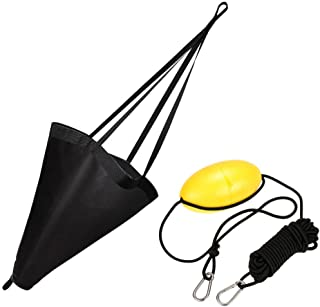 MOOCY 24-Inch Drift Sock Sea Anchor Drogue with 30ft Kayak Tow Rope Line Buoy Ball Float Leash Sea Brake System for Marine Boat/Yacht/Jet Ski/Inflatable/Power Boat/Sail Boat