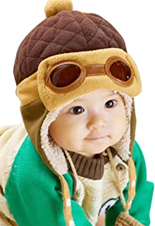 CoKate Baby Girls Boys Hats Winter Warm Cap Hat Beanie Pilot Aviator Crochet Earflap