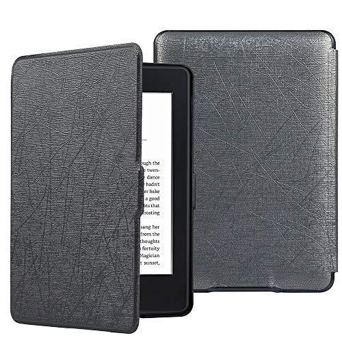 HiveNets Custodia rigida Kindle Paperwhite Premium Silk Cover più sottile e leggera con Auto Wake/Sleep per Amazon 2018 New Generation Grigio