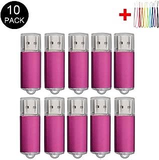 10PCS 2.0/3.0 USB Flash Drive Pen Drive Memory Stick Thumb Stick Pen Black (2.0/8GB, Pink)