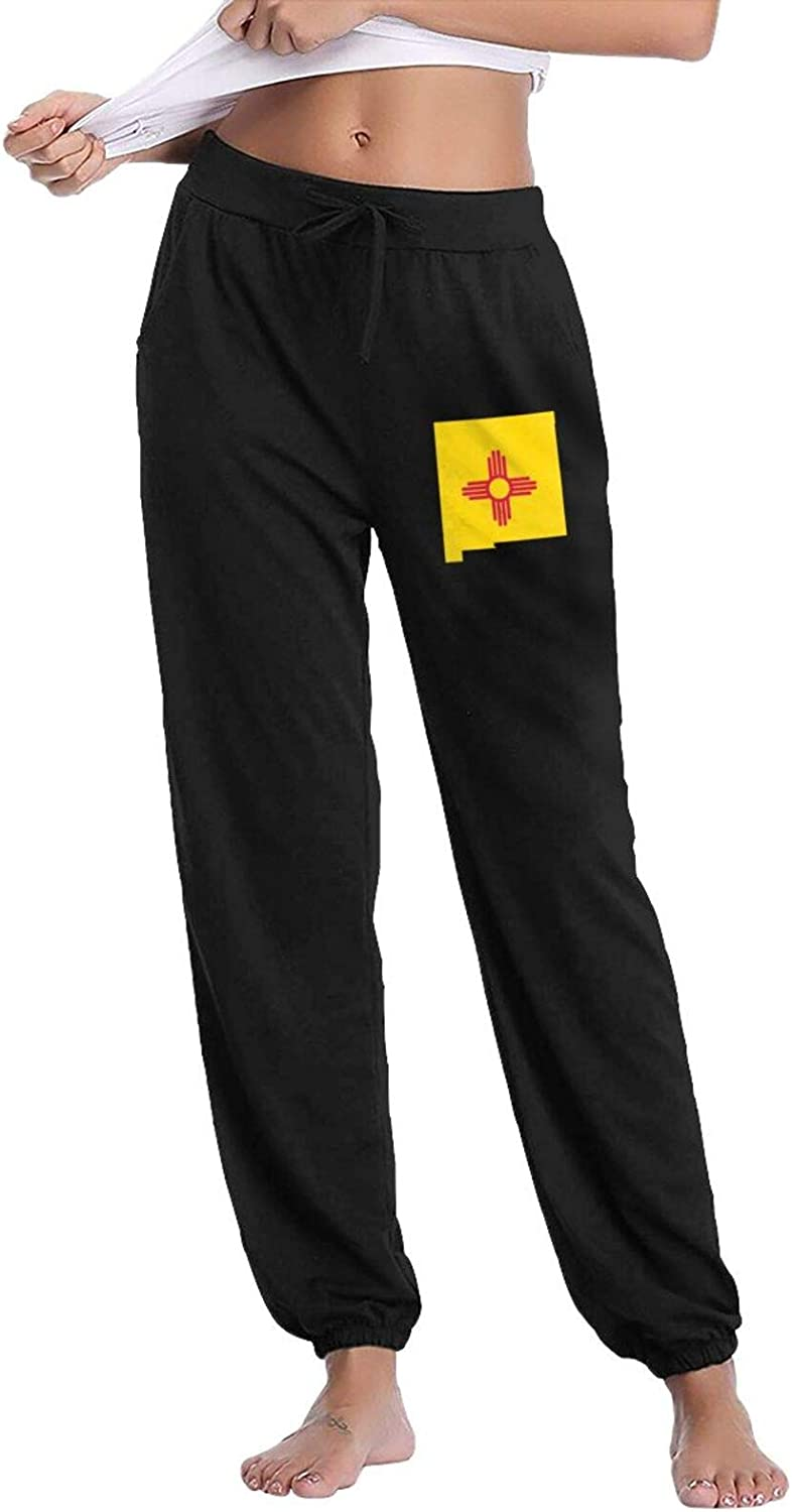FJKL Challenge the lowest price of Japan KLJF New Mexico Flag Map Pants Drawstring Women's Cot Genuine Free Shipping Waist