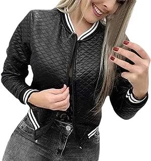 Macondoo Women Outdoor Sweatshirt Full Zip Coat Baseball Collar Jacket