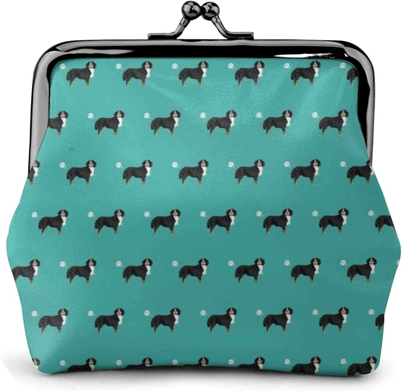 Bernese Mountain Dog 426 Coin Purse Retro Money Pouch with Kiss-lock Buckle Small Wallet for Women and Girls