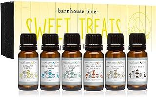 Sweet Treats Premium Grade Fragrance Oil - Gift Set 6/10ml Bottles - Banana Cream, Chocolate Mint, Blue Cot...