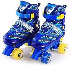 Win-Y Patines Quad, Ajustables estables Roller Skates para niños y niñas Principiantes