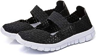 Zapatillas Ligeras Tejidas Malla Elastic Sandalias para Mujer Resistentes al Agua Transpirables Zapatos de Verano
