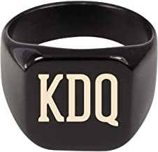 Molandra Products KDQ - Adult Initials Stainless Steel Ring
