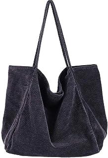 Funtlend Umhängetasche Damen Groß Handtasche Schultertasche Cord Tasche Damen Crossbody Tasche Einkaufstasche Damen Shoppe...