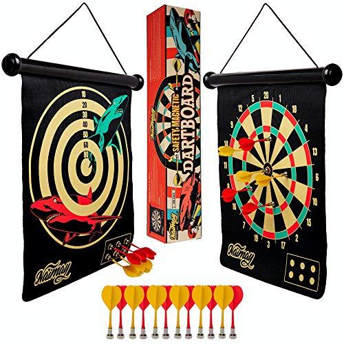 Kids Safety Dartboard W// Rubber Tips Darts Children Fun Arcade Game Set Toy Gift