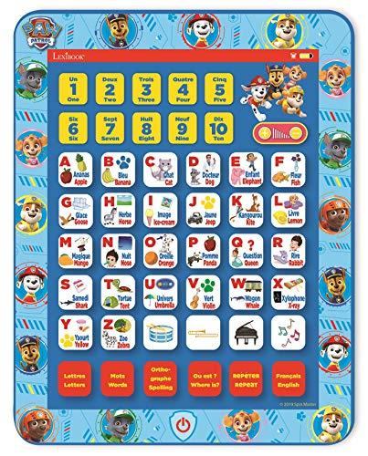 Lexibook Pat Patrouille Tablette éducative bilingue, jouet p