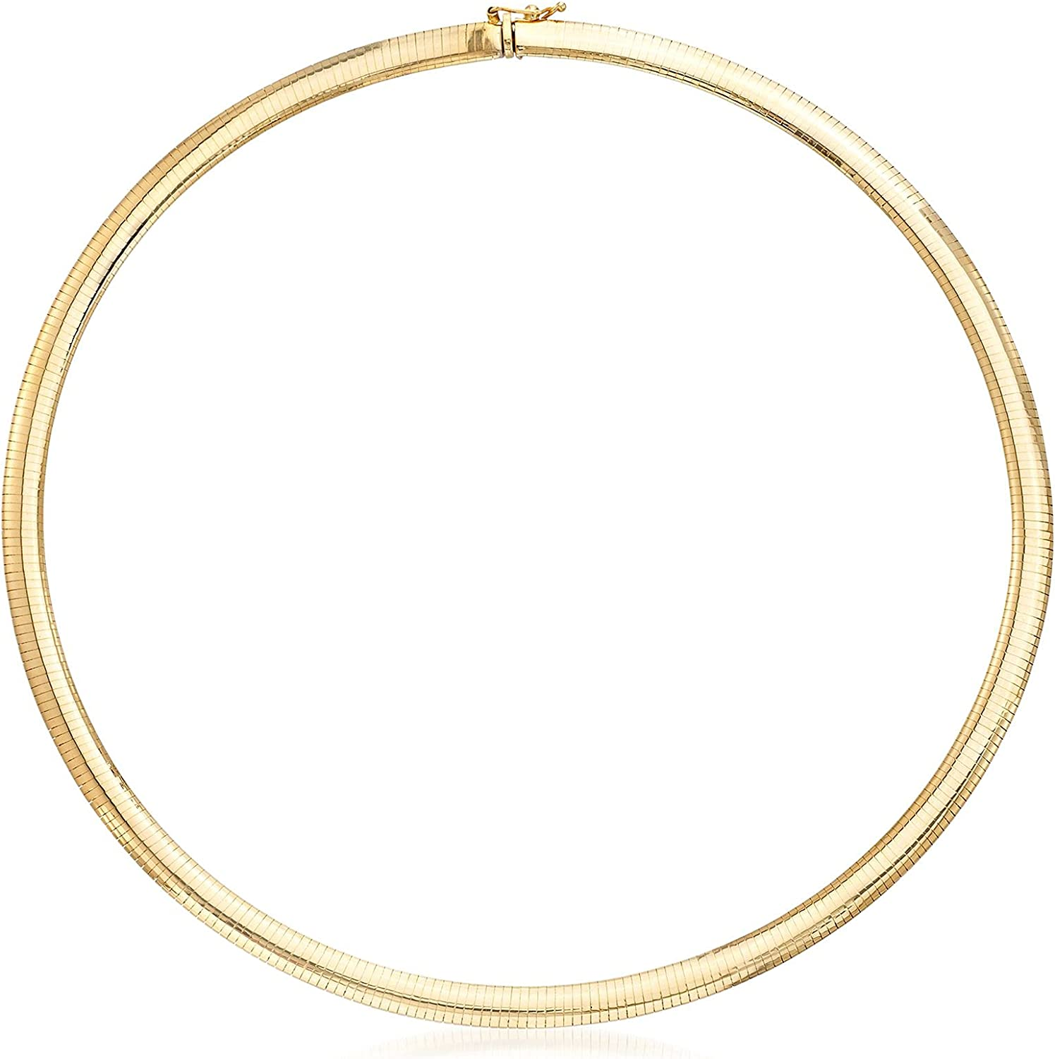 Ross-Simons Italian Dealing full price reduction shop 6mm 18kt Gold Omega Yellow Necklace