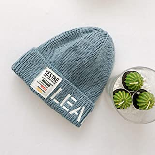 Ronshin Fashion Autumn Winter Children Woolen Cap Letters Decoration Cap Knitted Hat for Boys and Girls