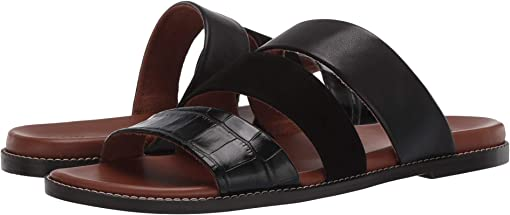 Black Croco/Nubuck Leather