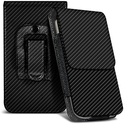 N4U Online® Oppo R7s Kohlefaser Tasche Gürtelholster