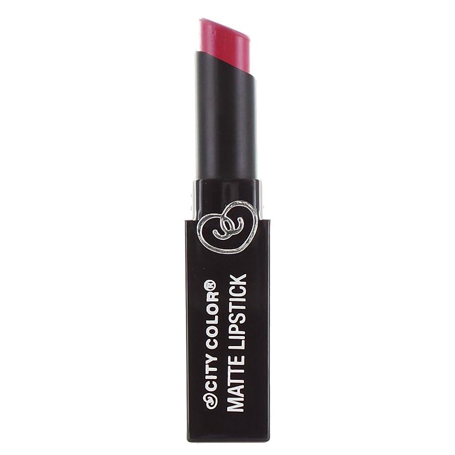 州罰故国(6 Pack) CITY COLOR Matte Lipstick L0050C - Raspberry (並行輸入品)