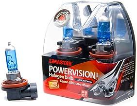 2 x H16 auto halogeenlamp PGJ19-3 6000K lamp 19W Xenon 12V