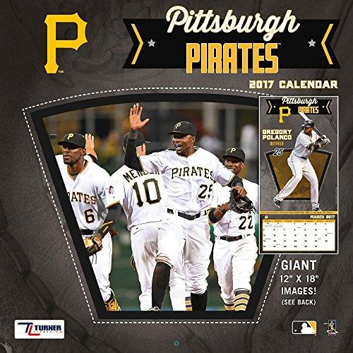 "Turner Licensing Sport 2017 Pittsburgh Pirates Team Wall Calendar, 12""X12"" (17998011860)"