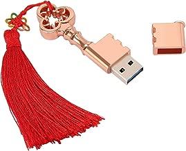 HDE USB Flash Drive 32GB Metal Key with Tassel USB 3.0 Storage Device Novelty High Speed USB Memory Victorian Steampunk Inspired Rose Gold Key (32 GB, Key w/ Tassel)
