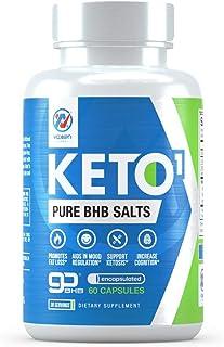 Keto BHB Exogenous Ketone Supplement - Beta Hydroxybutyrate Exogenous Ketones Salt Pills for Ketogenic Diet, Weight Manage...