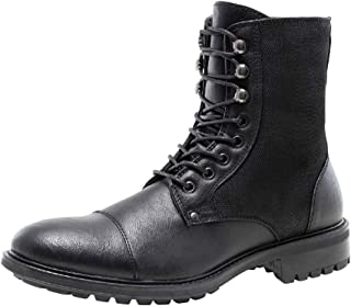 J75 Men's Chopper Duo Cap Toe Military/Motorcycle Boot with Nylon Shaft
