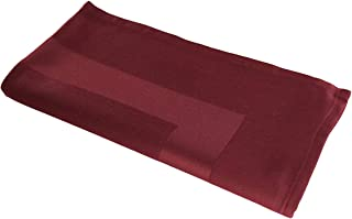 RC ROYAL CREST by Sigmatex - Lanier Textiles Large Satin Band Cloth Dinner Napkins Blended 55% Cotton 45% Polyester 22 x 22 inches 12 Pack (Burgundy)