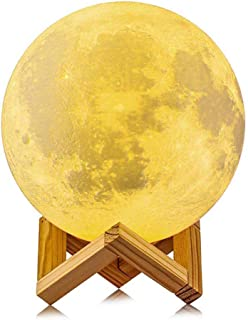 AMERTEER Moon Lamp, 3D Printing 16 Colors RGB Led Moon Light with Stand and Timing Setting, Moon Light Lamps for Kids Love...