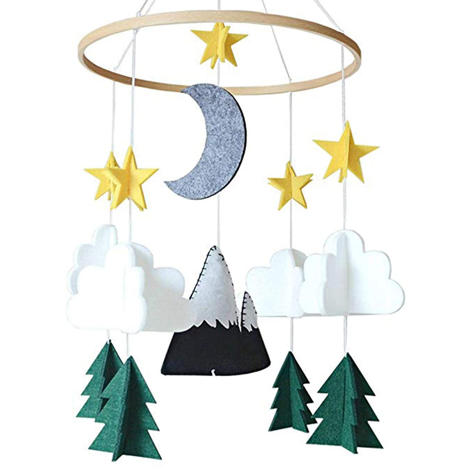 Baby Crib Mobile Hanging Ornament Nur Woodland Starry Clouds 3D Limited time sale Sales