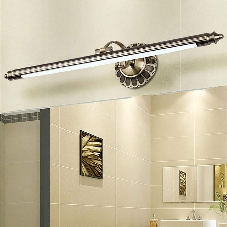 Spiegelleuchte LED European Vanity Bathroom Light FeuchtigkeitsBestendiger Rost Retro-Schrankspiegel Beleuchtung Lampen Schminktischlampe,Grünbronze