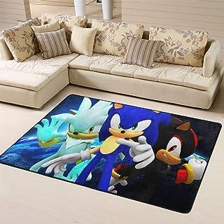 Zmacdk Sonic The Hedgehog - Alfombra antideslizante para dormitorio infantil (180 cm x 270 cm), Sonic Sonic The Hedgehog S...
