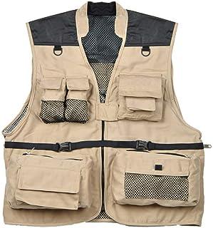 Giacca da Uomo Multi Vest Stile Colletto Uomo Fotografia Semplice Allentato Cappotto Senza Maniche Cappotto
