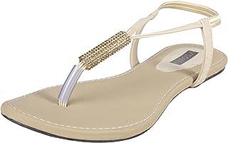 AZORES Women's Creame Coloured Flats