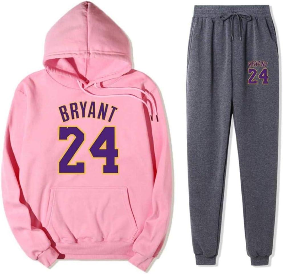 BAIDEFENG Tuta Sportiva da Uomo Completo Completo Lakers Kobe # 24 Tuta da Jogging Tuta da Ginnastica a Contrasto Tuta Sportiva da Basket Giacca e Pantaloni-Piccolo